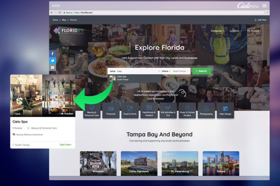 Find Cielo Spa in Floridify Local Business Listing