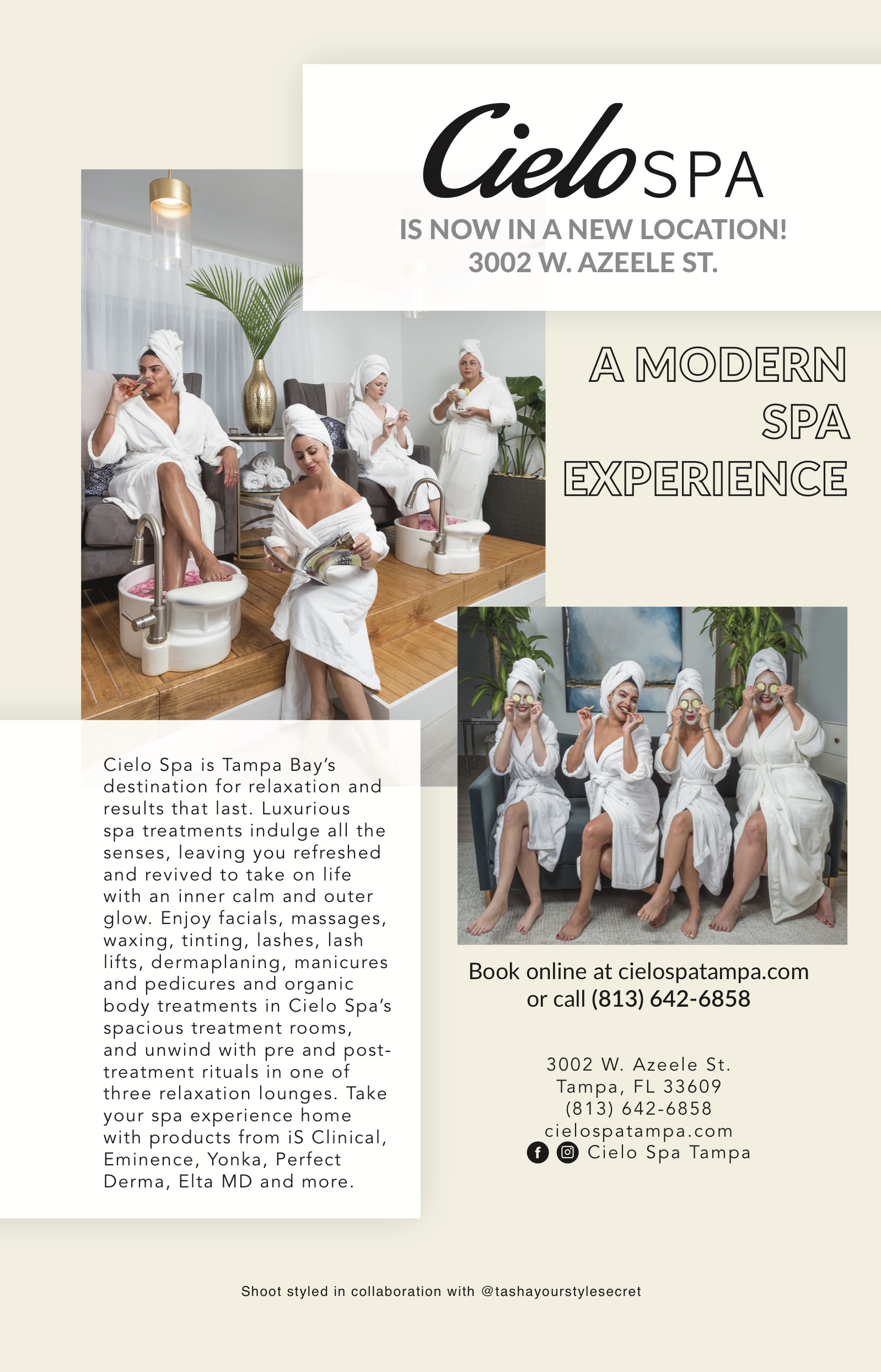 Cielo Spa - South Tampa Magazine - Issue 2019 Sep/Oct
